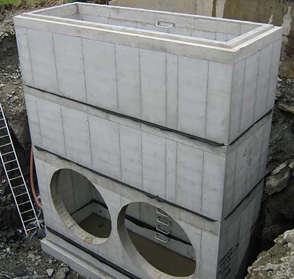 stacked precast concrete castings
