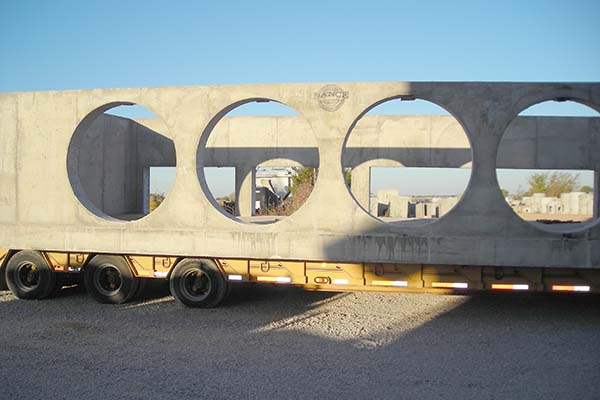 Custom precast casting with round blockouts