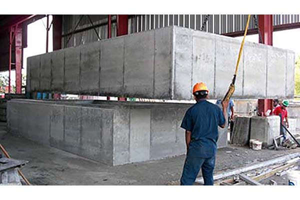 stacked precast boxes